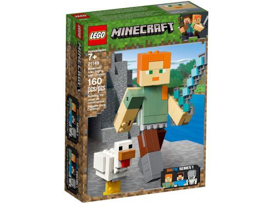 LEGO Minecraft 21149 BigFig Alex met kip