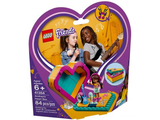 LEGO Friends 41354 Andrea's hartvormige doos
