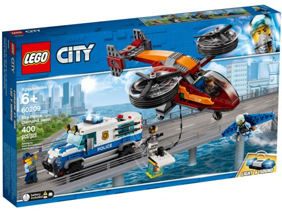 LEGO City 60209 Luchtpolitie diamantroof