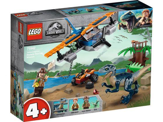 LEGO Jurassic World 75942 Velociraptor: Tweedekker reddingsmissie