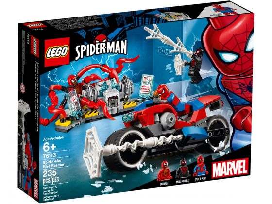 LEGO Super Heroes 76113 Spider-Man bike reddingsactie