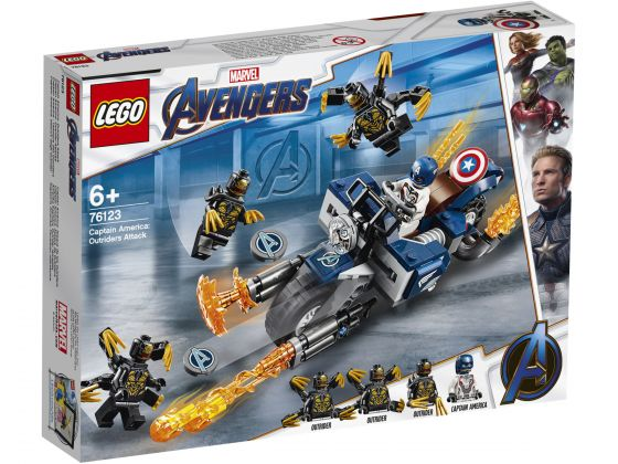 LEGO Super Heroes 76123 Captain America: Outriders aanval