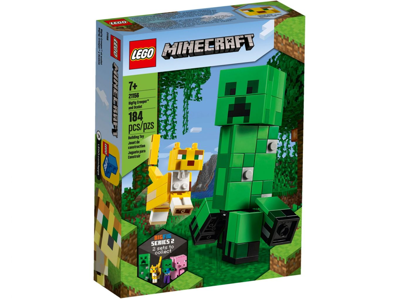 LEGO Minecraft 21156 BigFig Creeper en Ocelot