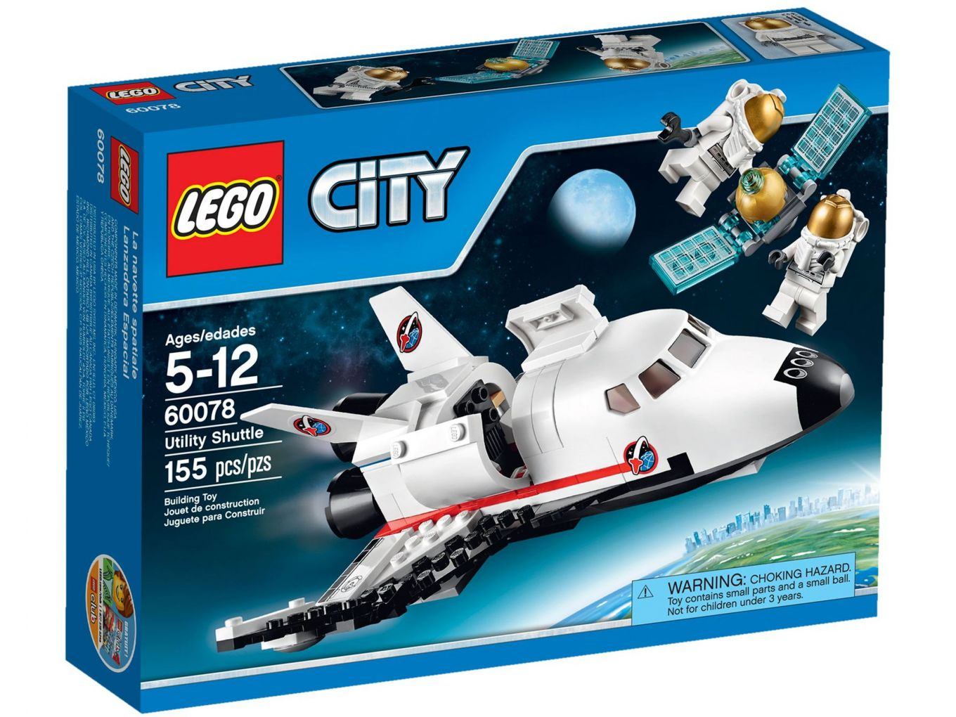 LEGO City 60078 Space Shuttle Hulpvoertuig
