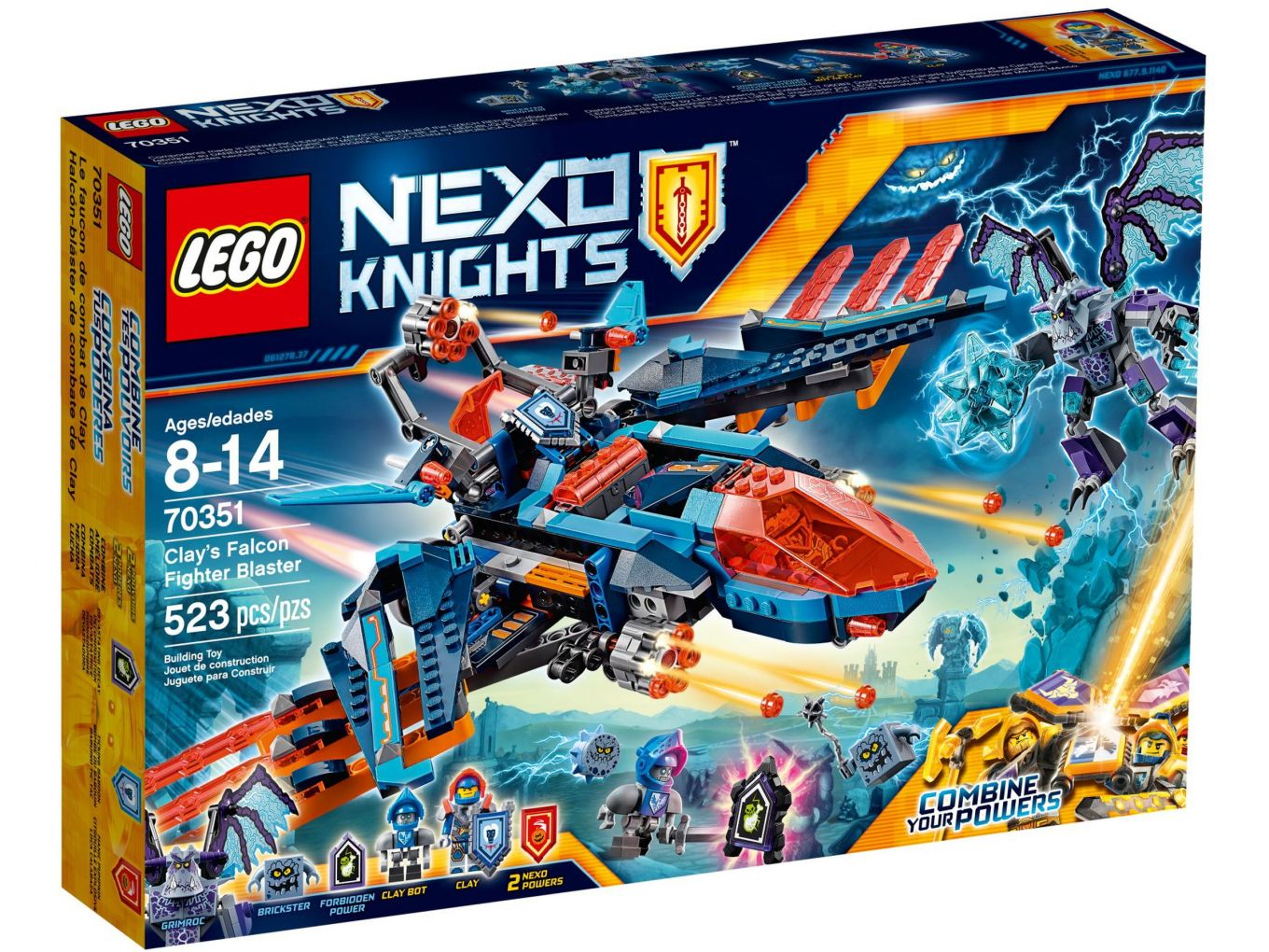 LEGO Nexo Knights 70351 Clay's Falcon Gevechtsblaster