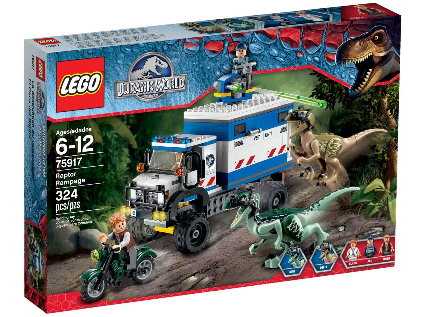 LEGO Jurassic World 75917 Raptor Rooftocht