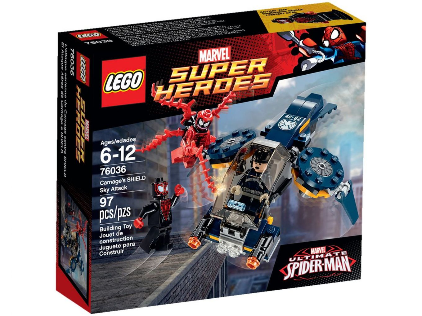 LEGO Super Heroes 76036 Carnage's SHIELD Luchtaanval