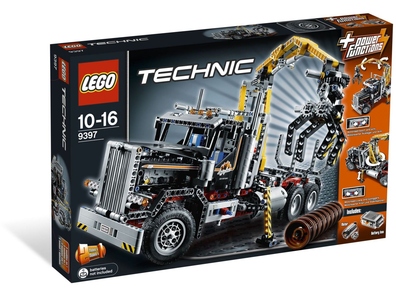 LEGO Technic 9397 Boomstammen transport