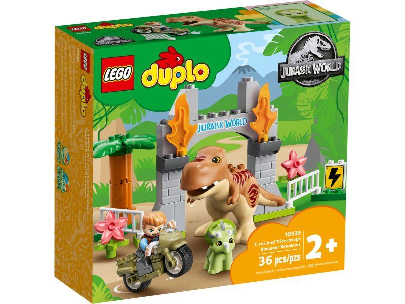LEGO Duplo 10939 T. rex en Triceratops dinosaurus ontsnapping