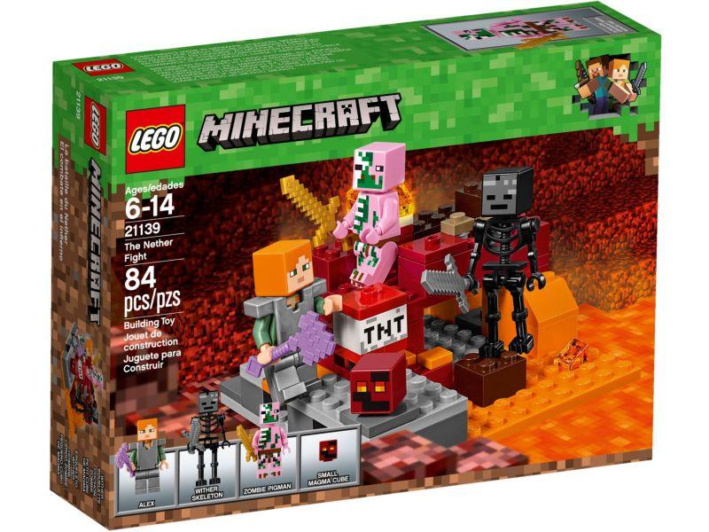LEGO Minecraft 21139 Het onderwereldgevecht