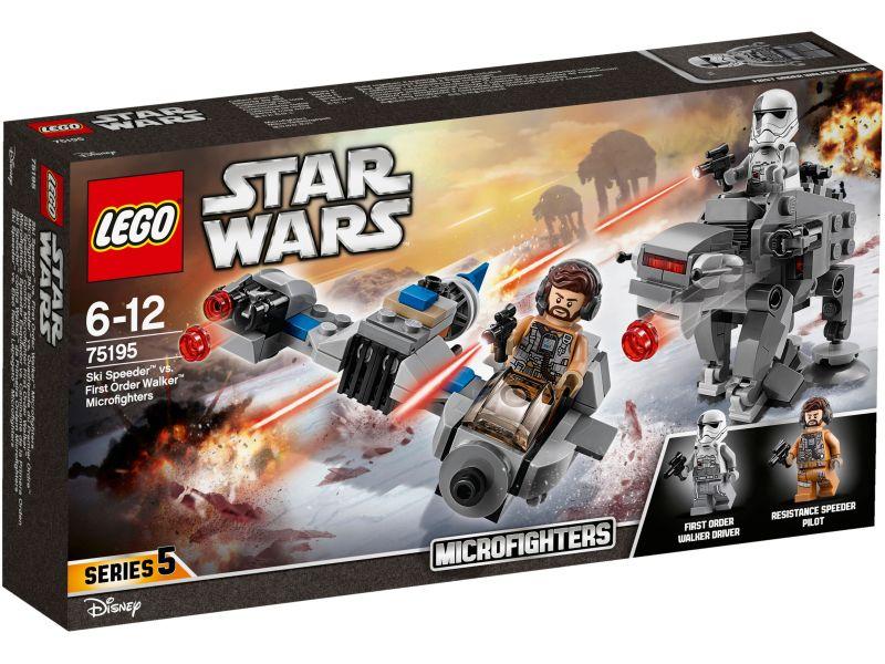 LEGO Star Wars 75195 Ski Speeder vs. Walker microfighters