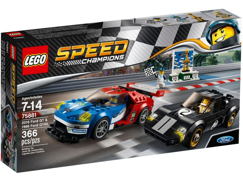 LEGO Speed Champions 75881 2016 Ford GT en 1966 Ford GT40