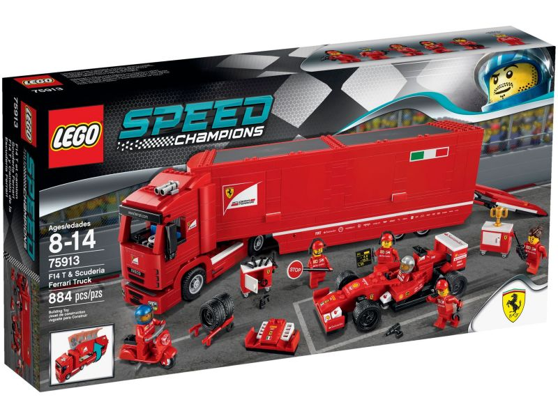 LEGO Speed Champions 75913 F14 Scuderia Ferrari truck