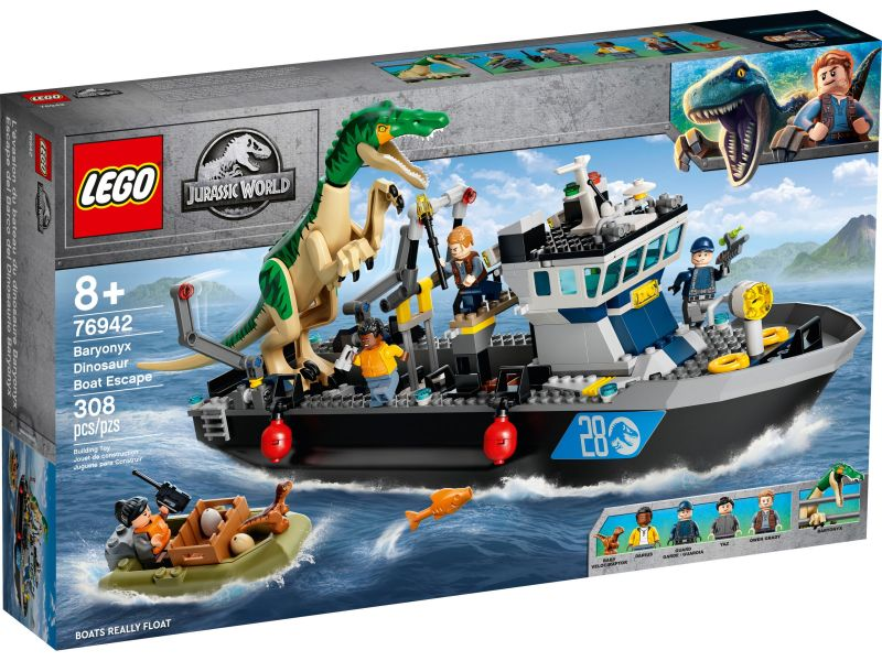 LEGO Jurassic World 76942 Bootontsnapping van dinosaurus Baryonyx