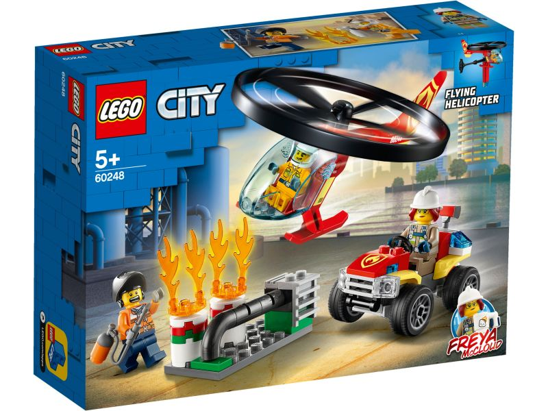 LEGO City 60248 Brandweerhelikopter reddingsoperatie