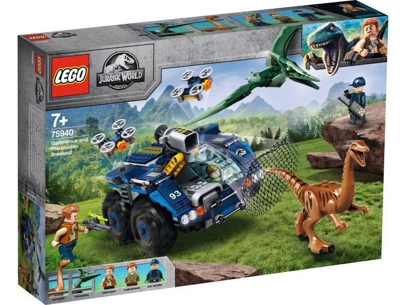 LEGO Jurassic World 75940 Ontsnapping van Gallimimus en Pteranodon