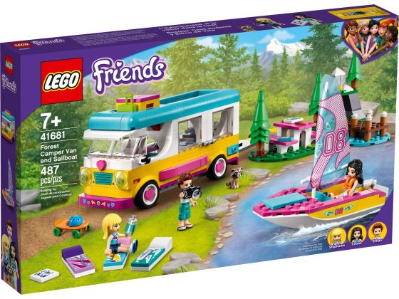 LEGO Friends 41681 Boscamper en zeilboot