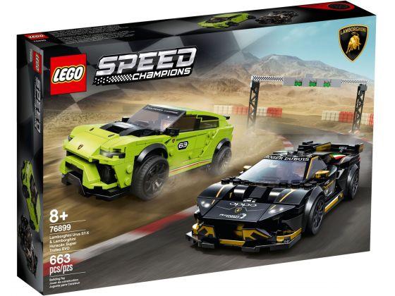 LEGO Speed Champions 76899 Lamborghini Urus & Huracán Super Trofeo EVO
