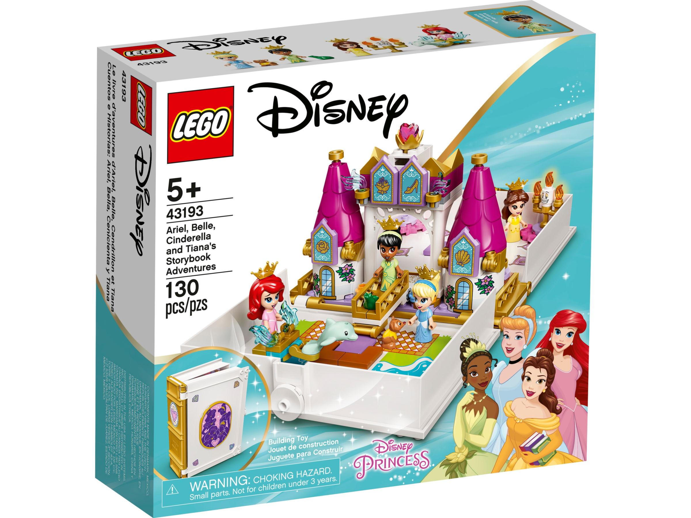 LEGO Disney 43193 Ariël, Belle, Assepoester en Tiana's verhalenboekavonturen