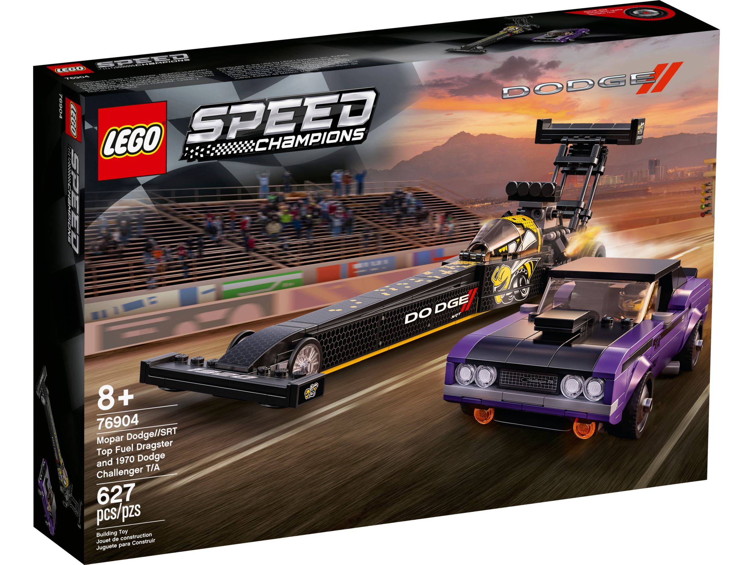 LEGO Speed Champions 76904 Mopar Dodge SRT Dragster en 1970 Dodge Challenger